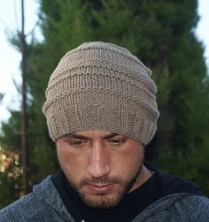 A personal favourite from my Etsy shop https://www.etsy.com/uk/listing/503191441/hat-mens-cashmere-beige-classic-beanie