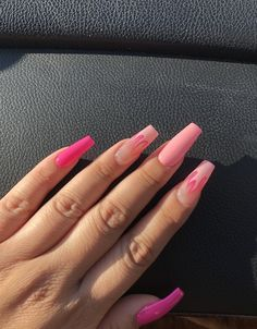 In seek out some nail designs and some ideas for your nails? Listed here is our list of must-try coffin acrylic nails for trendy women. Simple Acrylic Nails, Summer Acrylic Nails, Best Acrylic Nails, Cute Acrylic Nail Designs, Summer Nails, Acrylic Nails Chrome, Long Square Acrylic Nails, Pink Nail Designs, Aycrlic Nails