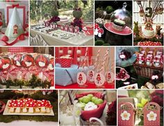Little Red Riding Hood Party Inspiration Red Riding Hood Party, Red Ridding Hood, Woodland Party, Birthday Party Themes, Birthday Ideas, Baby Party, Childrens Party, Perfect Party, Little Red