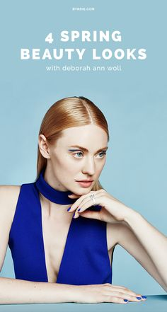 Deborah Ann Woll models 4 daring beauty looks for spring in a brand new editorial