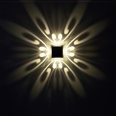 Modern Geometric-Pattern LED Wall Lamp (Multiple Colors)
