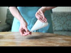 How to Fold a Parchment Pastry Bag