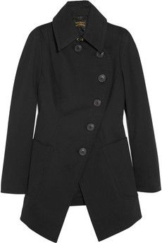Vivienne Westwood Anglomania Rac brushed stretch-cotton coat | THE OUTNET