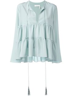 Chloé tiered blouse $980.54