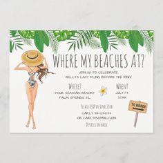 Bachelorette Itinerary, Bachelorette Party Planning, Beach Bachelorette, Bachlorette Party, Bachelorette Party Invitations, Bachelorette Party Decorations, Wedding Invitations, Custom Invitations, Invitation Cards