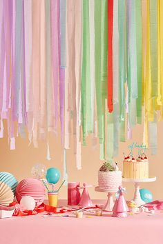 from - Cakes and Streamers. Balloon Pops and Party Hats. It's like a tick list of party essentials. Baby Shower Venues, Baby Shower Parties, Bridal Shower, Festa Monster Truck, Poppies For Grace, Paper Streamers, Streamer Backdrop, Party Backdrops, Kids Party Decorations