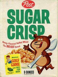 Loved this! Sugar Crisp, Breakfast Cereal, Vintage Recipes, Retro Recipes, Vintage Ads, Retro Ads, Vintage Food, Vintage Advertisements, 1950s Ads