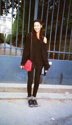 Liu Wen (December 2011 - October - Page 34 Daily Fashion, Fashion News, Street Fashion, Ming Xi, Liu Wen, Front Row, Autumn Fashion, Normcore, Street Style