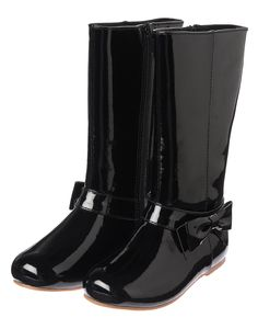 Patent Bow Boots at Gymboree