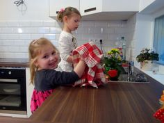 girls in the kitchen Stock Photos, Girls, Kitchen, Design, Home Decor, Toddler Girls, Cooking, Decoration Home, Daughters
