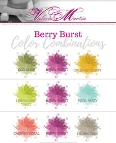 Valerie Martin Stampin Up In color 2017 2018 combinations ideas color story color schemes card making Berry Burst
