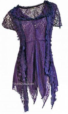 AP Mazie Lace Blouse In Purple