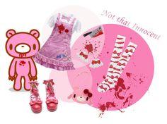"""29"" by kawaii-star ❤ liked on Polyvore featuring Pink, lolita, kawaii and gloomybear"