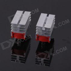 ZnDiy-BRY SQLF-50A Aluminium Alloy 50A 1200V Single Phase Bridge Rectifiers - Silver (2 PCS)