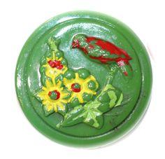 Antique Czech Glass Button - Medium by KPHoppe on Etsy