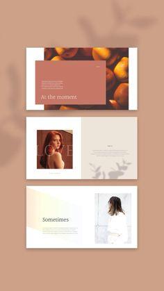 Presentation Slides Design, Presentation Layout, Book Design, Layout Design, Pag Web, Site Web Design, Images Esthétiques, Powerpoint Background Design, Social Media Page Design