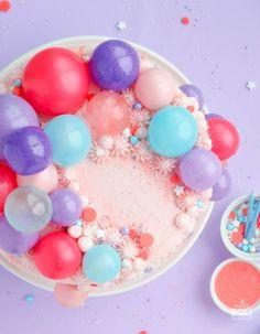 Gelatin Bubble Garland – On a Cake!