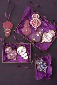 Purple cookie ornaments #HopeJoyPurple