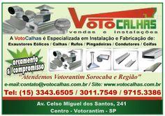 JORNAL AÇÃO POLICIAL SOROCABA E REGIÃO ONLINE: Voto Calhas Vendas e Instalações Av. Celso Miguel ...