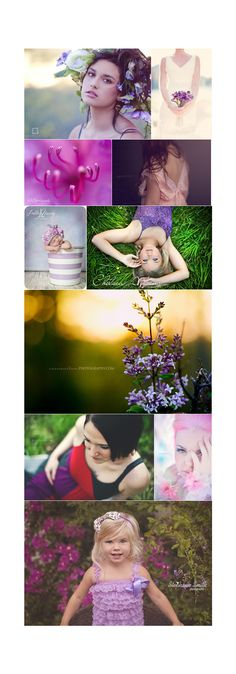 lovely plum collage on evoking you blog