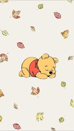 Trendy Wallpaper Iphone Disney Winnie The Pooh Heart Cartoon Wallpaper Iphone, Disney Phone Wallpaper, Iphone Background Wallpaper, Cute Cartoon Wallpapers, Kawaii Wallpaper, Aesthetic Iphone Wallpaper, Aesthetic Wallpapers, Iphone Wallpapers, Autumn Phone Wallpaper