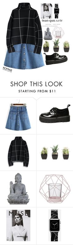"""#Romwe"" by credentovideos ❤ liked on Polyvore featuring Chicwish, Universal Lighting and Decor, Bloomingville and Casetify"