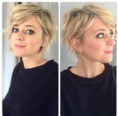 New Short Hairstyles, Pretty Hairstyles, Pixie Haircuts, Good Hair Day, Great Hair, Medium Hair Styles, Curly Hair Styles, Headbands For Short Hair, Pelo Pixie