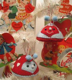 Free pattern: Felt ladybugs · Needlework News | CraftGossip.com