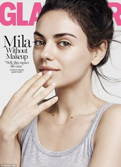 Nothing bad about this mom! Mila Kunis, 32, stuns sans make-up on the back cover of Glamour's August issue
