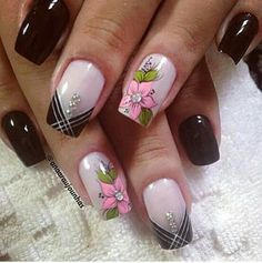 señoras Spring Nail Art, Nail Designs Spring, Nail Art Designs, Fancy Nails, Cute Nails, Pretty Nails, Perfect Nails, Gorgeous Nails, Joy Nails