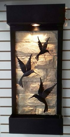 Wall Fountains Hummingbirds and Water Dimensions 90 Cm Heigh.- Wall Fountains Hummingbirds and Water Dimensions 90 Cm Height X 40 cm Width. Sun…, Wandbrun… Wall Fountains Hummingbirds and Water Dimensions 90 Cm Height X 40 cm Width. Room Partition Designs, Wall Art Designs, Wall Design, Metal Wall Art, Wood Art, Art Decor, Diy Home Decor, Decor Ideas, Wall Sculptures
