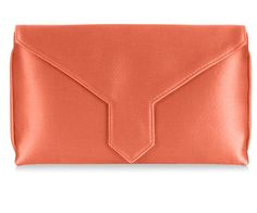 Our classic envelope-shaped clutch bags are available in a rainbow of silks and finished with a jewel-encrusted brooch of your choice. Pink Clutch, Clutch Bag, Pink Silk, Coral Pink, British Clothing, Bespoke, Clutch Bags, Clutches