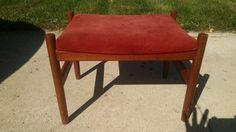 Danish modern vintage teak footstool bench Denmark