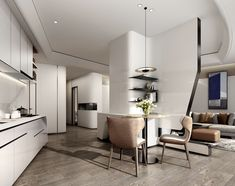 Dining Area, Kitchen Dining, Interior Architecture, Interior Design, Counter Design, Scandinavian Interior, House Design, Furniture, Living Room