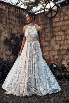 halterneck lace wedding dress by Grace Loves Lace Dream Wedding Dresses 8047460f3