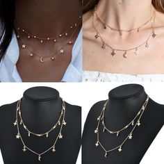 Type: Choker Necklace. 1X Crystal Chain Choker Necklace. Quantity: 1 set. | eBay!