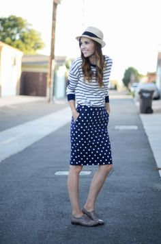 Stripes, polka dots, oxfords, and a fedora.