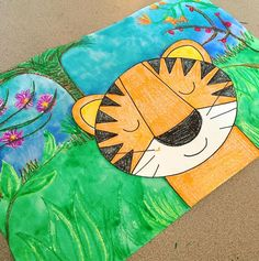 New project for K-2 inspired by Henri Rousseau's tropical jungles!!! #primaryart #artteachersofinstagram #artteacher #arteducation #artclass #rousseau #jungles #mixedmedia #collage #drawing #painting #iteachart #elementaryart