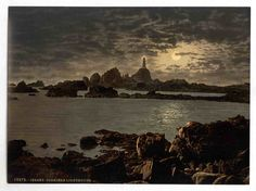 new to site Jersey, Corbiere Lighthouse by moonlight, Channel Islands, England
