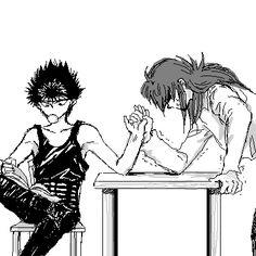 Kurama is a lot stronger then Hiei. Especially when he's in his demon form (Youko) Manga Anime, Old Anime, Horimiya, Nisekoi, Yu Yu Hakusho Anime, Fox Boy, Yoshihiro Togashi, Kimi No Na Wa, Divas