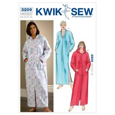 Mccall Pattern K3209 Xs-S-M-L-X-Kwik Sew Pattern