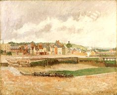 Camille Pissarro  Saint Thomas, West Indies, 1830 – Paris 1903  ALL ART PIECES BY THIS ARTIST  Dieppe: Duquesne Basin at Low Tide, Afternoon...