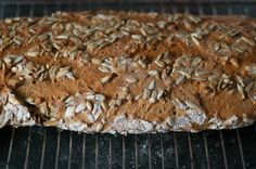 freshly made bread with sunflower seeds
