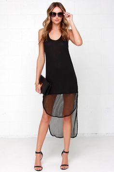 Active Duty Black High-Low Dress at Lulus.com!