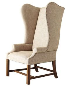 Best Upholstered Wing Back Chairs - Wing Armchair - ELLE DECOR