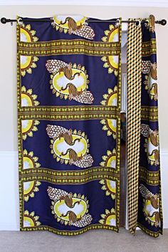 Get 2 curtain patterns for the price of house don't have to be so conventional. Our awesome African Print double sided window curtains transform a neglected essential into an awesome statement piece. Featuring a double-sided print. Curtains Yellow And Blue, African Home Decor, Printed Curtains, Curtain Patterns, Ankara Fabric, Womens Size Chart, Main Colors, Window Curtains, Flipping