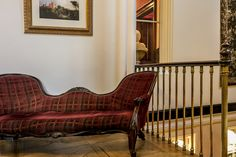 Discover our sensational Dalhousie Castle in Scotland and live like a king! Book your stay and step inside this luxurious hotel with a fascinating past. Scottish Castles, Sofa, Couch, Edinburgh Scotland, Step Inside, Tartan, Homes, Interiors, Detail