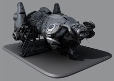 grav ship, sci-fi, spaceship,   roosterMAP's art thread - Polycount Forum