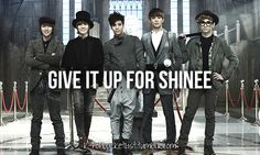 "I have already ""give(n) it up"" for SHINee while I sit at my laptop xD"