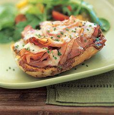Ham, cheddar and apple butter sandwich          Open-Face Ham, Cheddar, and Apple Butter Sandwiches Recipe  at Epicurious.com